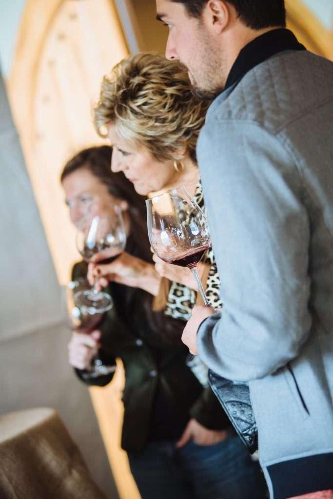 Grand Cru Club Members Enjoying Wine.