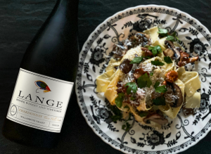 Three Hills Cuvee Chardonnay and Pappardelle