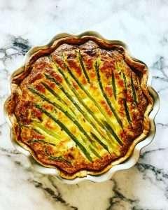Asparagus and Crab Quiche