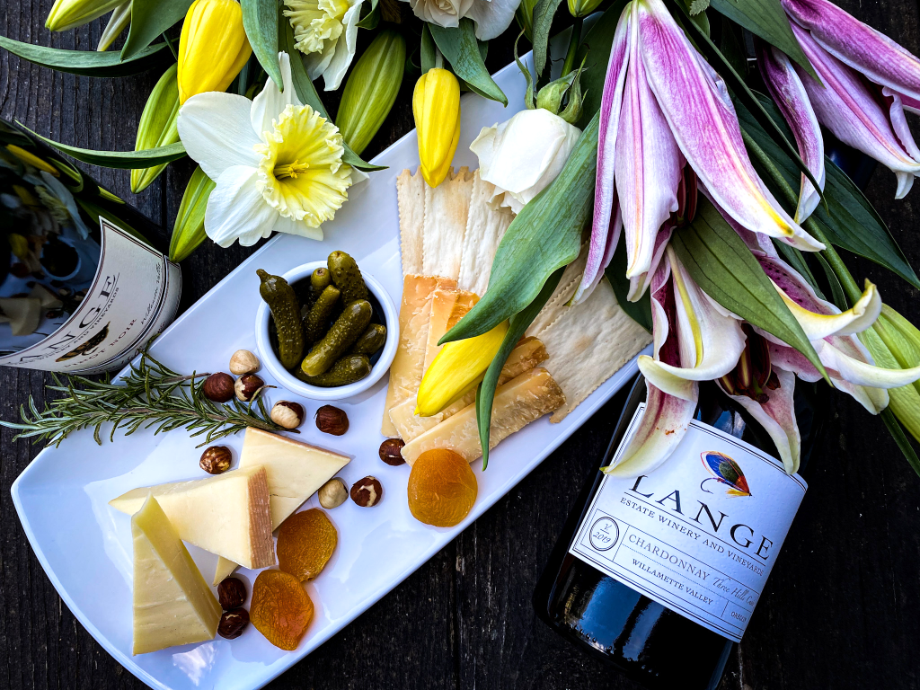 Assorted Saxelby Cheeses Paired with Lange Wines