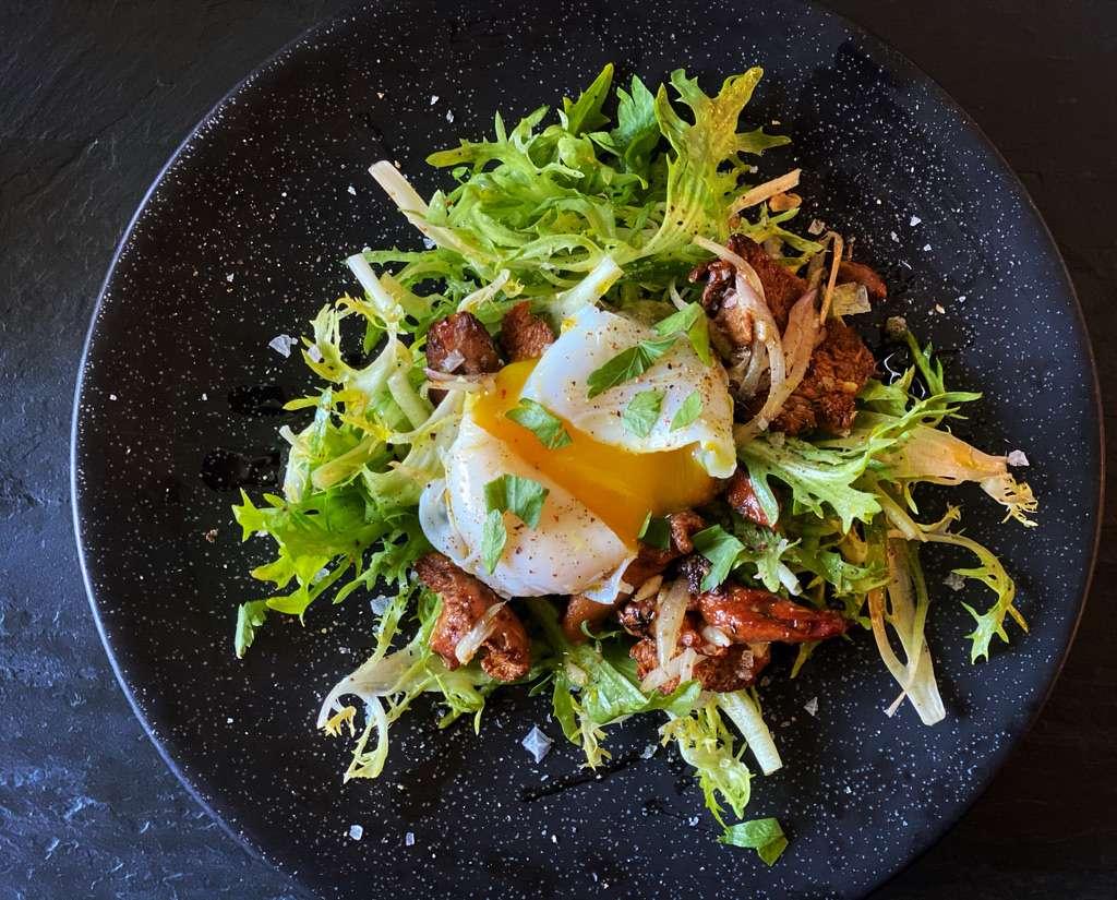Salad Lyonnaise with Duck Egg